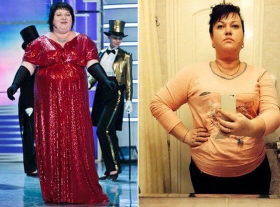 похудение Ольги Картунковой на диете