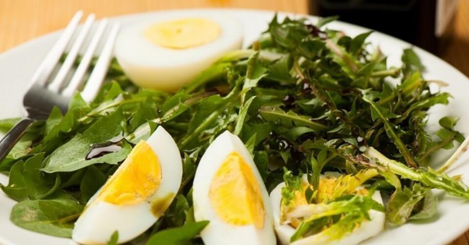 рецепт салата из одуванчиков