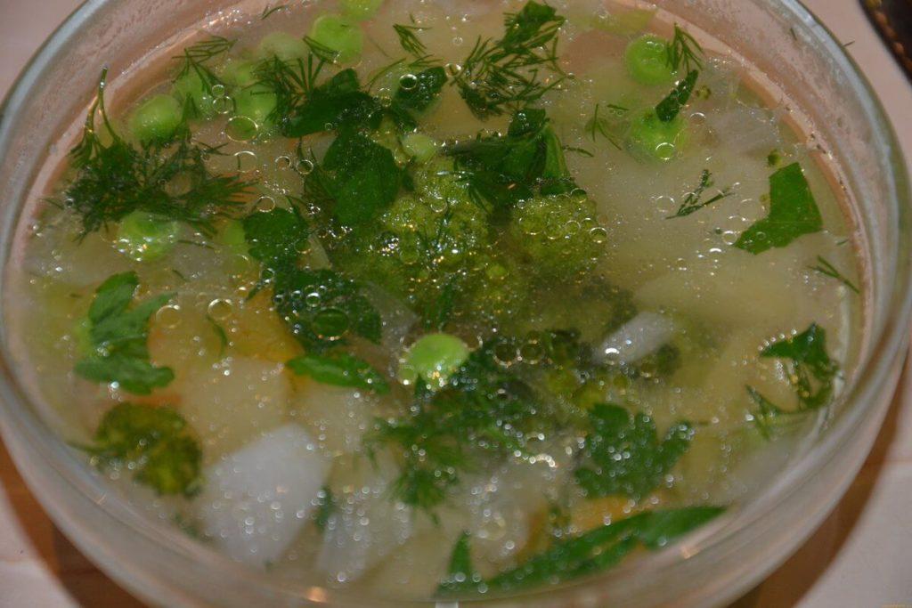зеленый суп для похудения рецепт