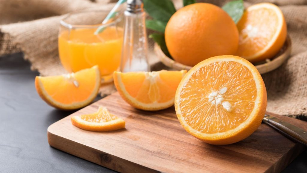 салат креветки с апельсином рецепт