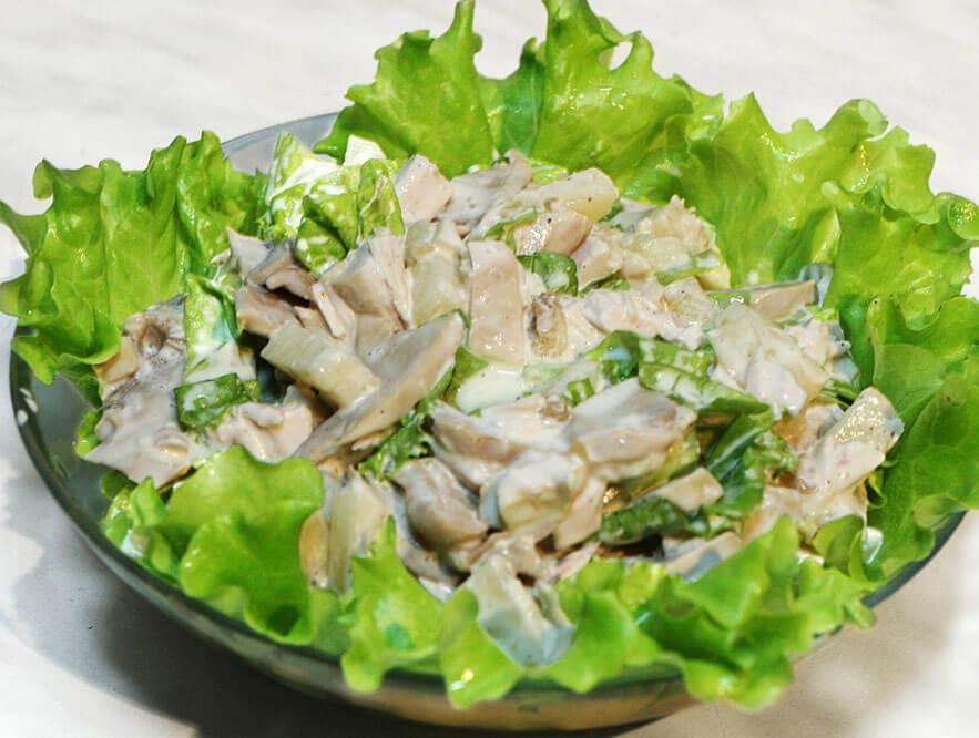 белковый салат с курицей рецепт