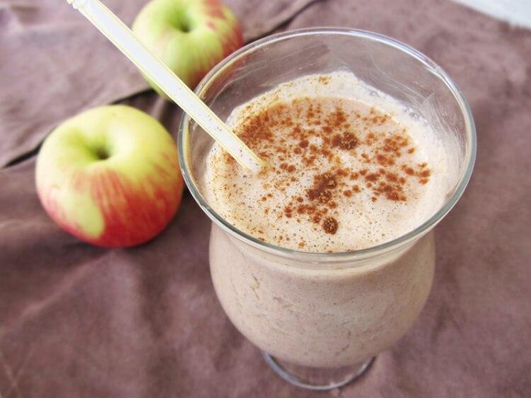 коктейль кефир яблоко