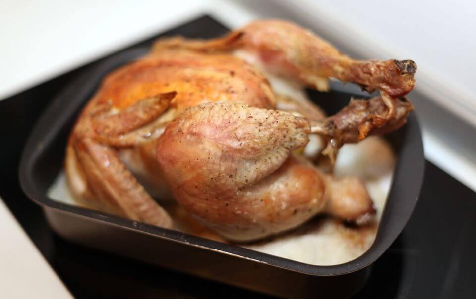 хрустящая курица на соли