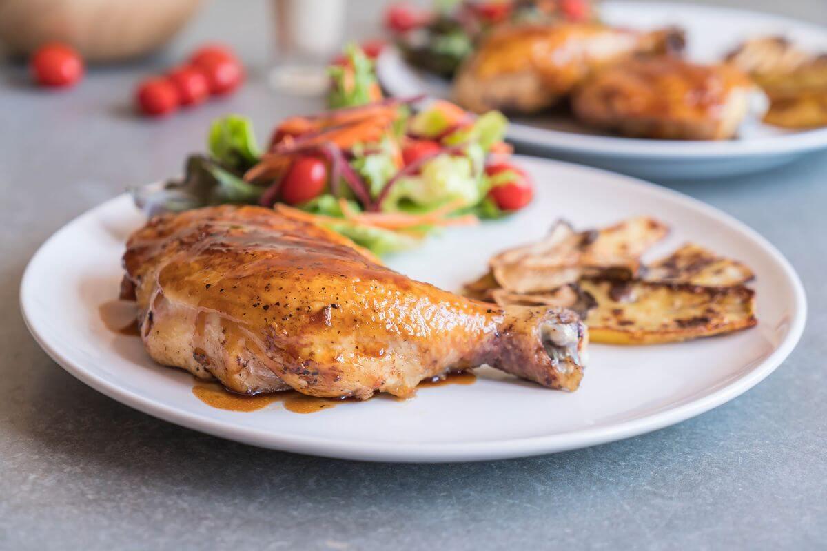 ужин из курицы