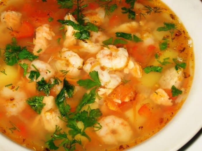 конце суп из креветок рецепт с фото очень наличие него