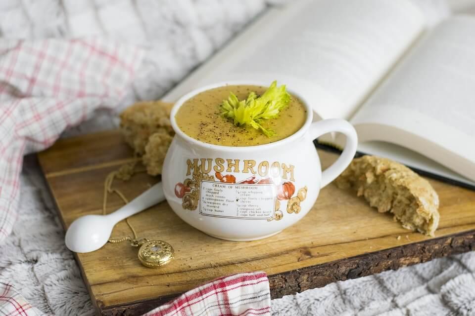 грибной суп калорийность