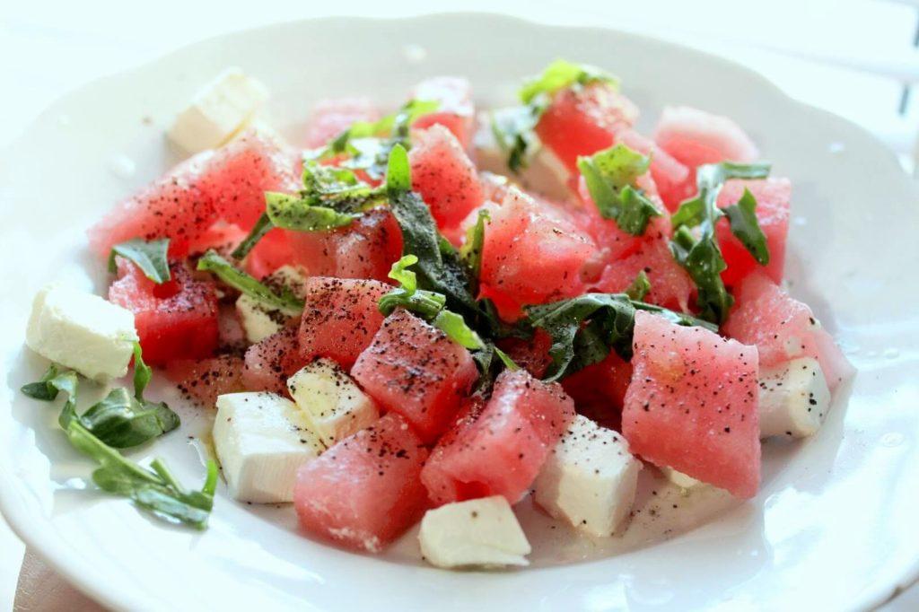 салат с арбузом и фетой рецепт
