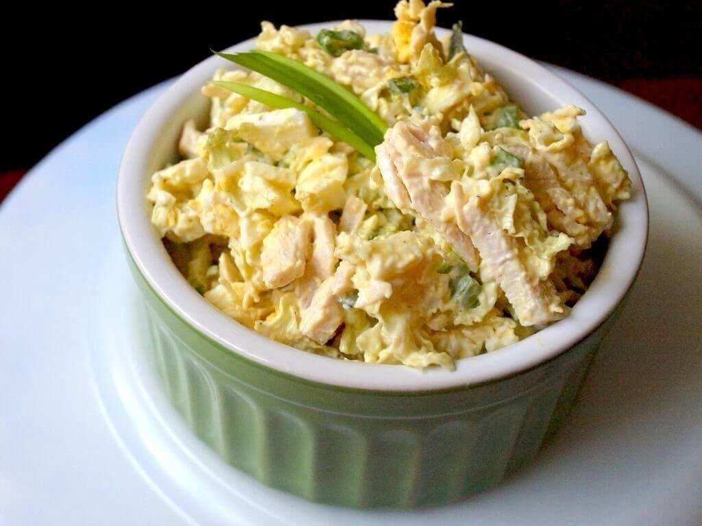 белковый салат с курицей для похудения