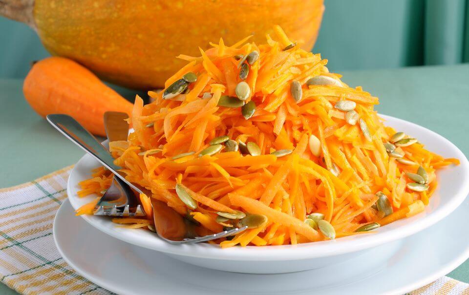 Салат из сырой тыквы для стройности и здоровья