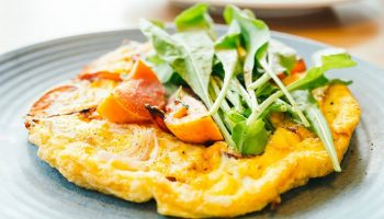 Жиросжигающий белковый завтрак — скрэмбл с черри и халапеньо