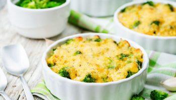 Рецепт малокалорийного куриного суфле со шпинатом