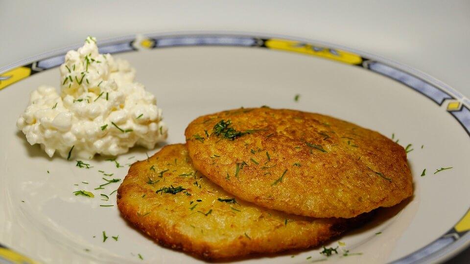 сырники из картофеля и укропа