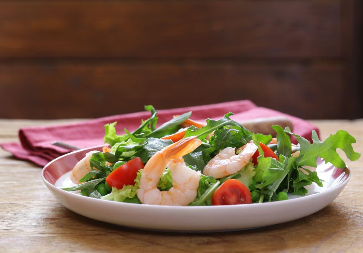 салат с креветками рецепт