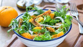 Легкий салатик с курицей «Сочный цитрус»