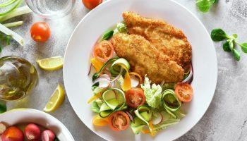 Диетический капустный шницель на обед и ужин: 115 ккал на 100 г