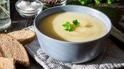Суп-пюре с яблоком и кабачком