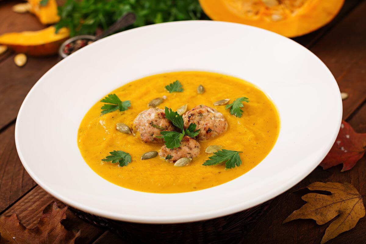 тыквенный суп с фрикадельками рецепт